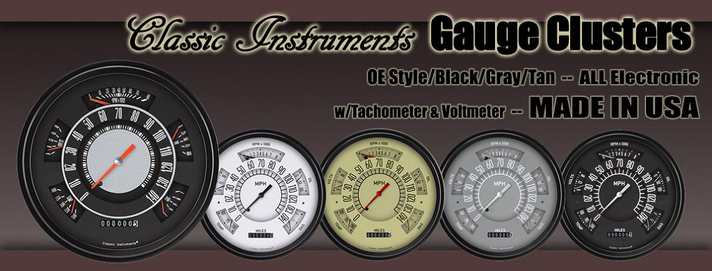 NEW Bronco Instrument Guage Clusters by Classic Instruments