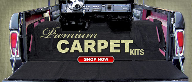 Deluxe Carpet Kits for early Bronco.  Made in the USA.