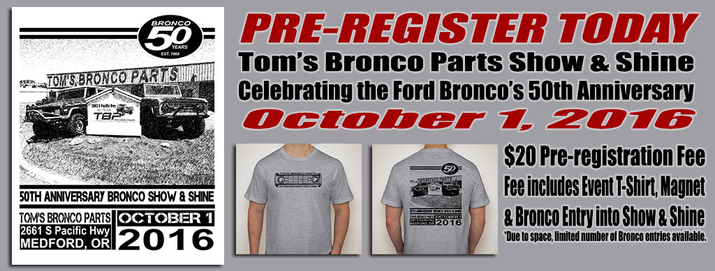 TBP Show & Shine 2016 - Ford Bronco 50th Anniversary