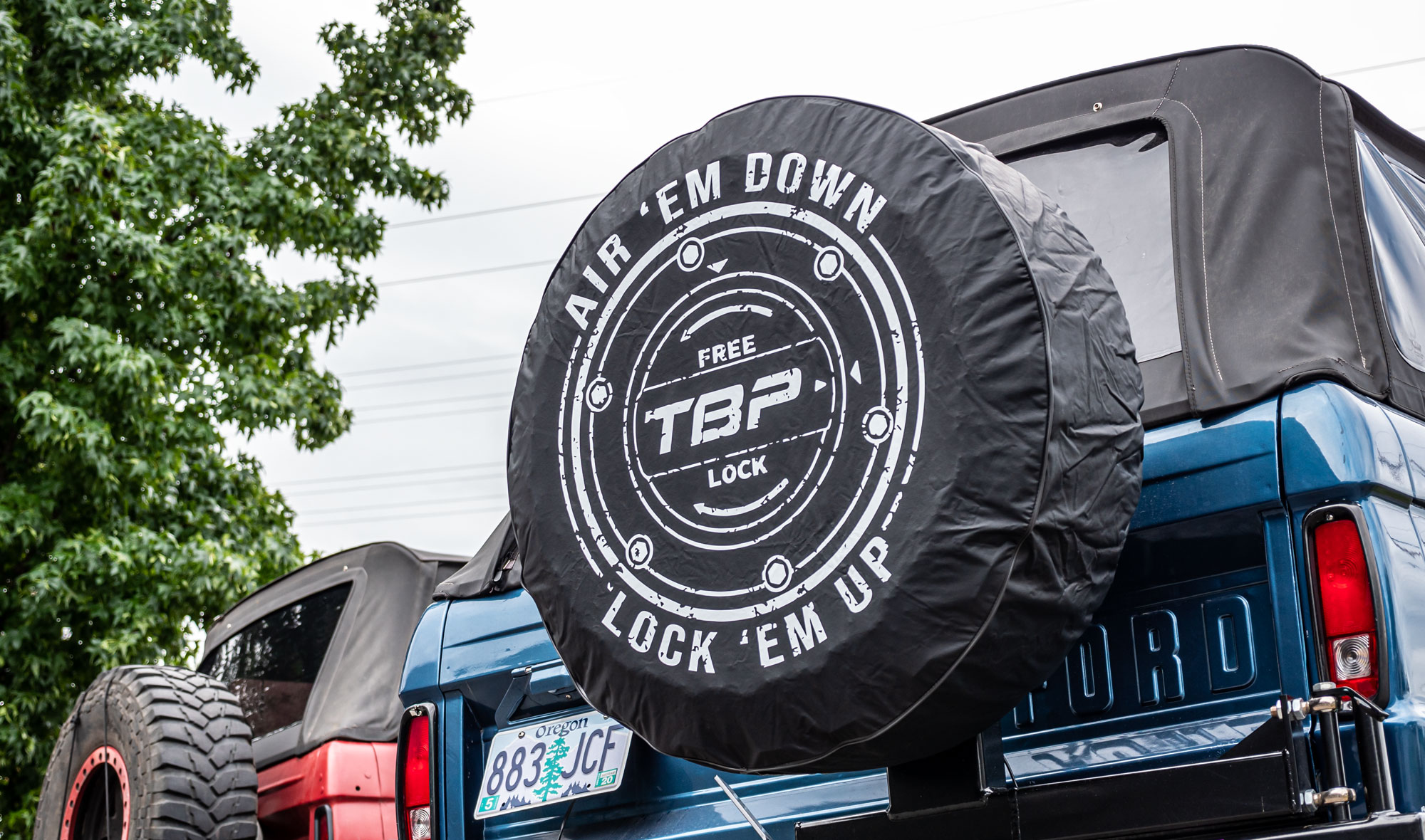 Tire Cover - TBP Air 'em Down Logo, Black