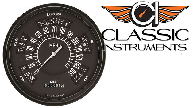 CLASSIC INSTRUMENTS Gauge Cluster - 66-77 Bronco, Black Face