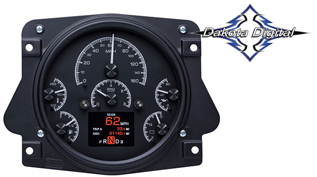 HDX Series Digital/Analog Speedometer Display - Black Alloy Face