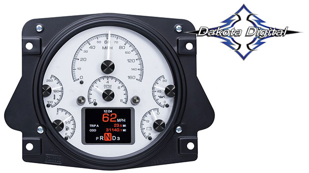 HDX Series Digital/Analog Speedometer Display - Silver Alloy Face