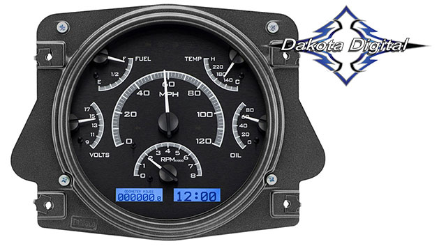 VHX Series Digital/Analog Speedometer Display - Black Alloy Face w/White Backlight