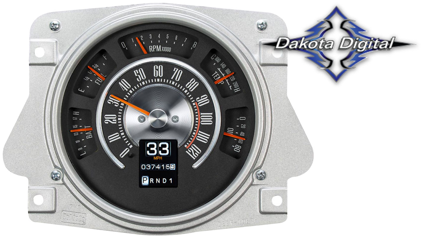 RTX Series Digital/Analog Speedometer Display - OE Style