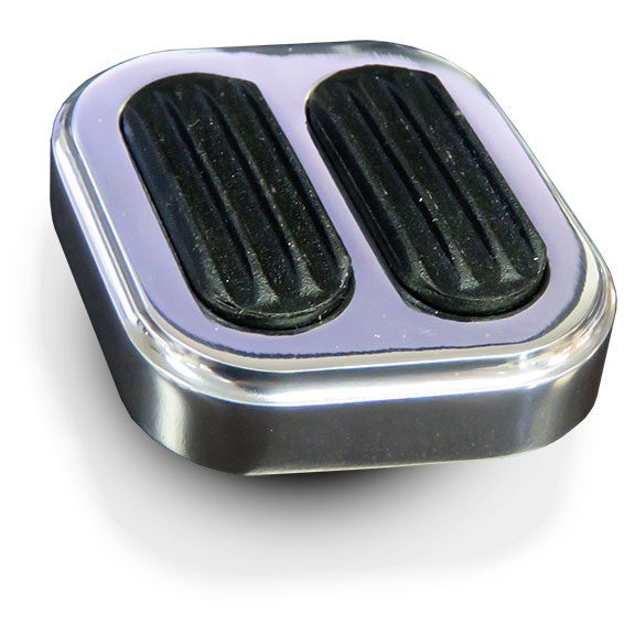 Billet Aluminum Dimmer Switch Pad w/Rubber Grip