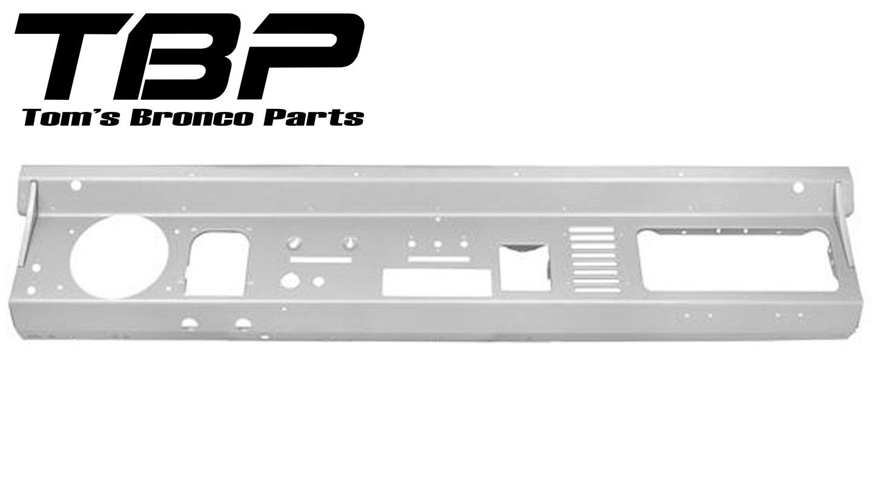 Steel Dash Panel w/Single-DIN Radio Cutout, New, 74-77  Style