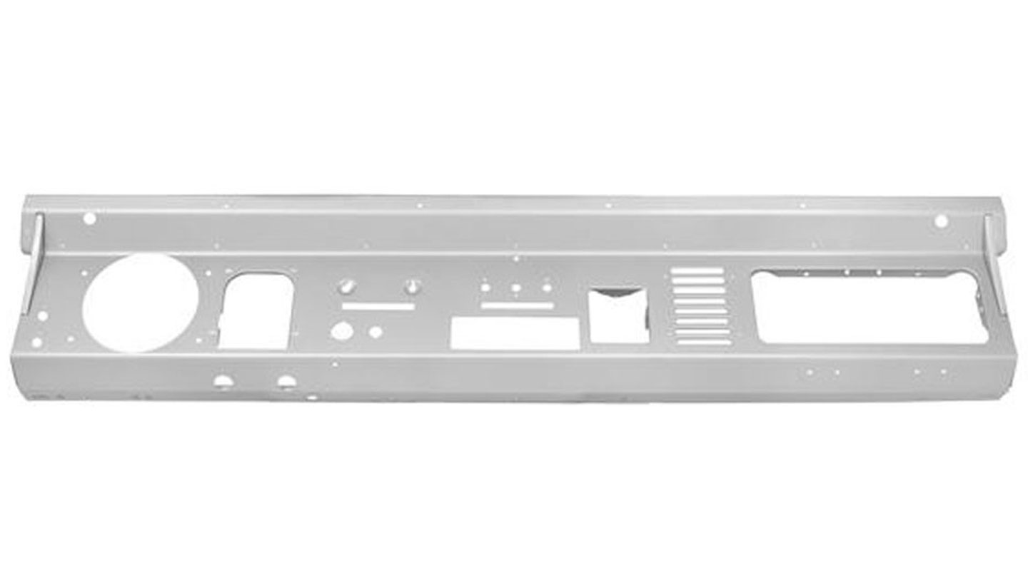 Steel Dash Panel w/Single-DIN Radio Cutout, 74-77  Style