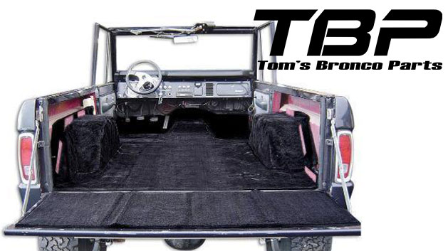 PREMIUM Black Full Carpet Kit, 77 Bronco