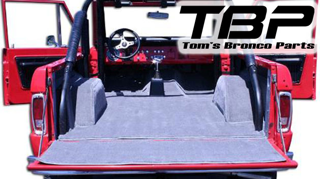 STANDARD Gray Full Carpet Kit, 66-76 Ford Bronco