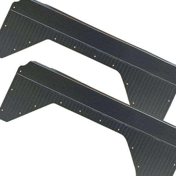 Quarter Panel Inserts - Black, Pleated, 66-76 Ford Bronco (pair)