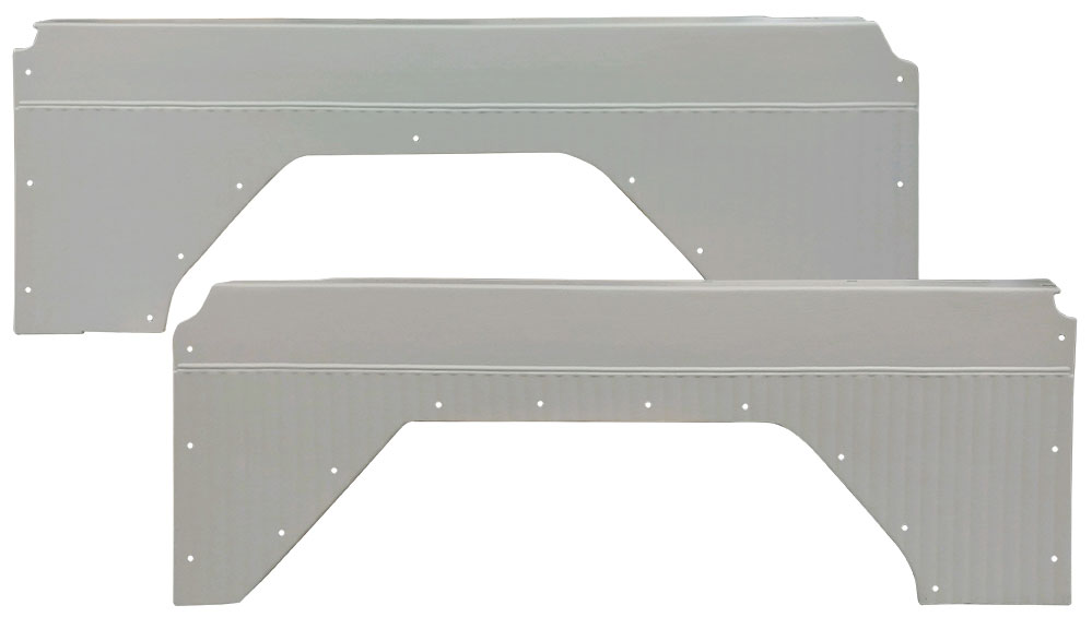 Quarter Panel Inserts - Pleated Parchment White, 66-76 Ford Bronco