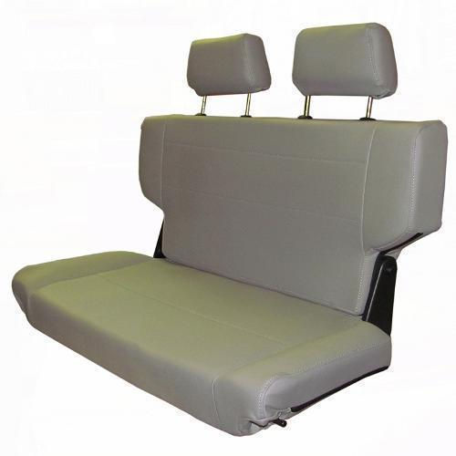"Rear Bench Seat w/Headrests, Fold & Tumble, Gray, 40"" Wide, Blemmed"