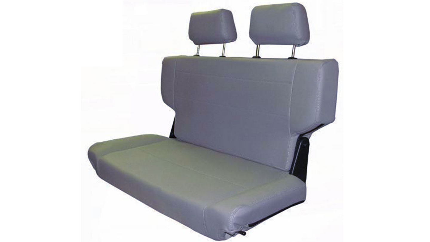 "Rear Bench Seat, Fold & Tumble, Gray,  40"" Wide"