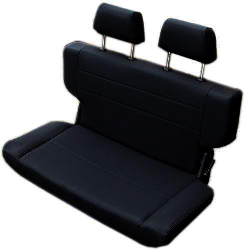 "Rear Bench Seat, Fold & Tumble, Black, 40"" Wide, Blemished RATING 3"