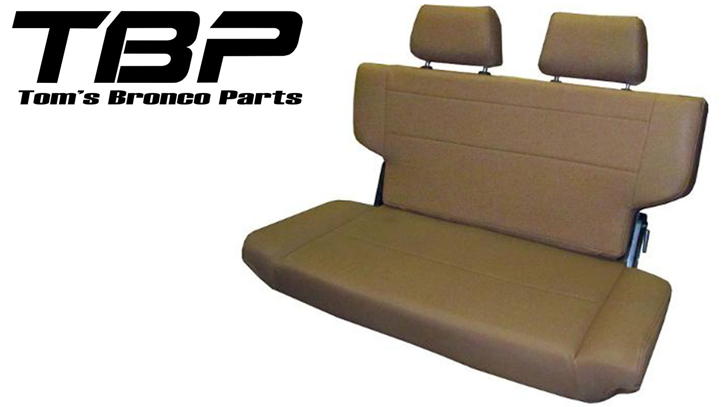 """Rear Bench Seat, Fold & Tumble, Spice, 40"""" Wide"""
