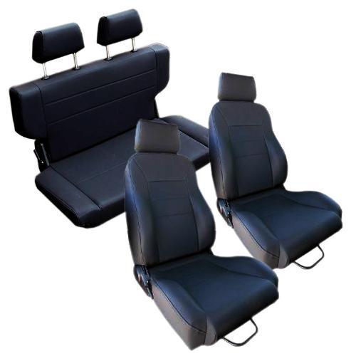 Complete Set of Custom Seats, Black, Blemished, Set B