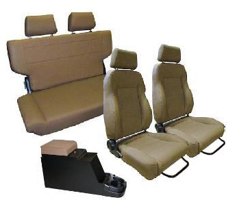 Complete Set Custom Seats w/Center Console, Spice