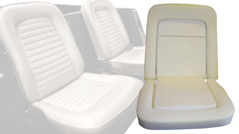 Front Bucket Seat Foam, 1966 Ford Bronco (Does 1 Seat)