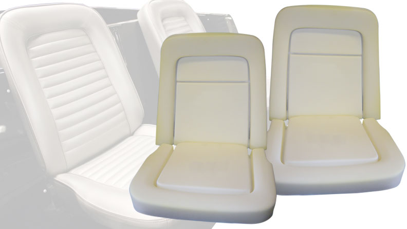 Front Bucket Seat Foam Set, 1966 Ford Bronco (Two Seats)