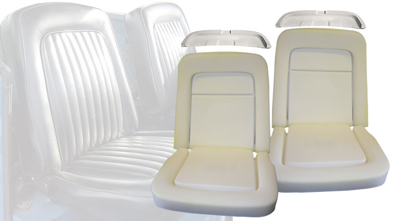 Front Bucket Seat Foam Set, 67-77 Ford Bronco (Two Seats)