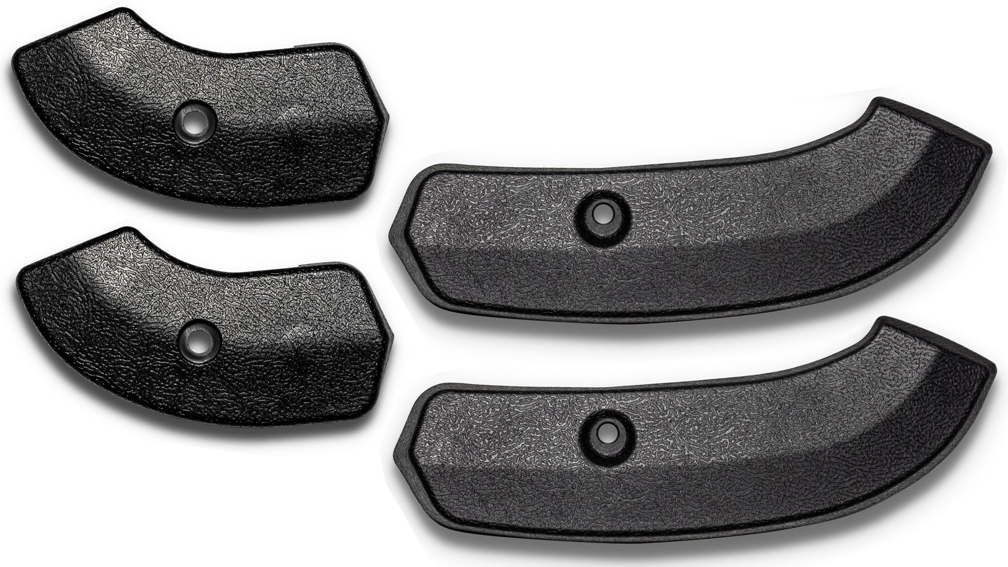 Front Bucket Seat Hinge Covers - Black, Full Set, 66-67 Ford Bronco, New