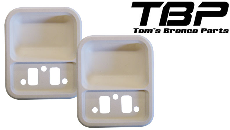 Door Cups - Parchment, 68-77 Ford Bronco (pair)