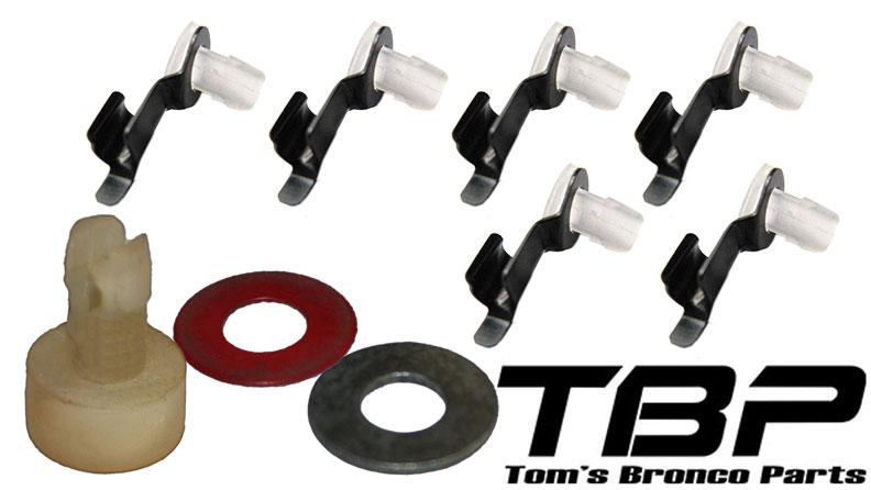 Door Latch Bushing Kit, 1966-67 Ford Bronco, Does 1 Door