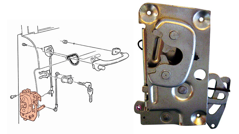 Door Latch - Passenger, 66-67 Ford Bronco