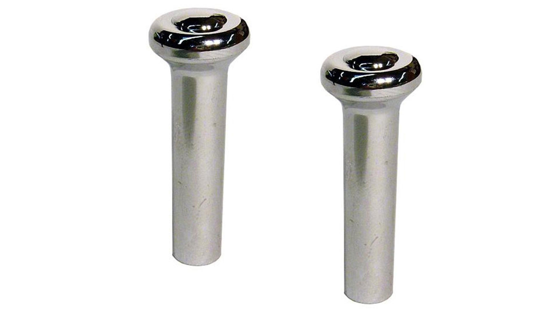 Door Lock Knobs - Chrome, 68-77, PAIR