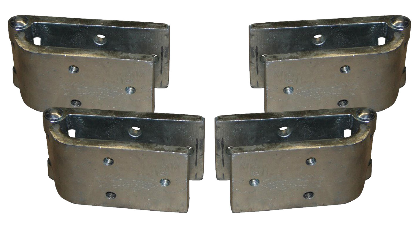 Door Hinges - Set of 4, Does Both Doors