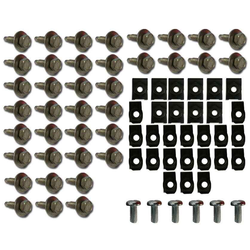 STAINLESS Bolt Kit for Fenders & Grill w/Clips