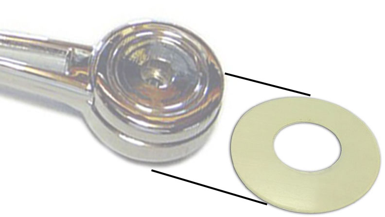 Window Handle Escutcheon Bushing, 68-77 Bronco