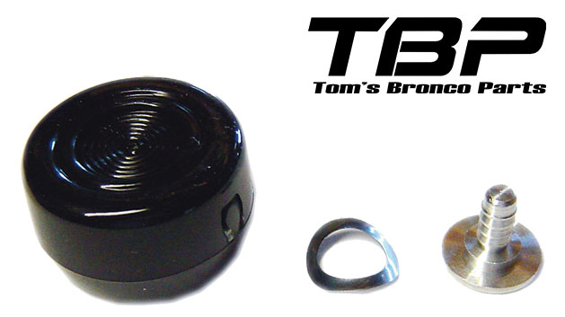 Window Handle Knob - Black, 68-77 Ford Bronco (each)