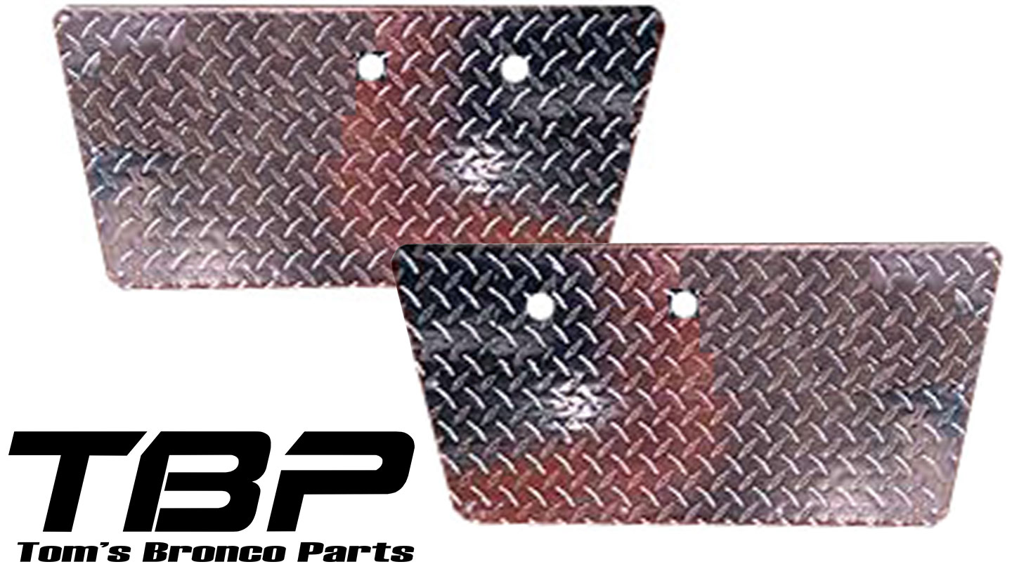 Door Panels - Diamond Plated, 66-67 Ford Bronco (per pair)