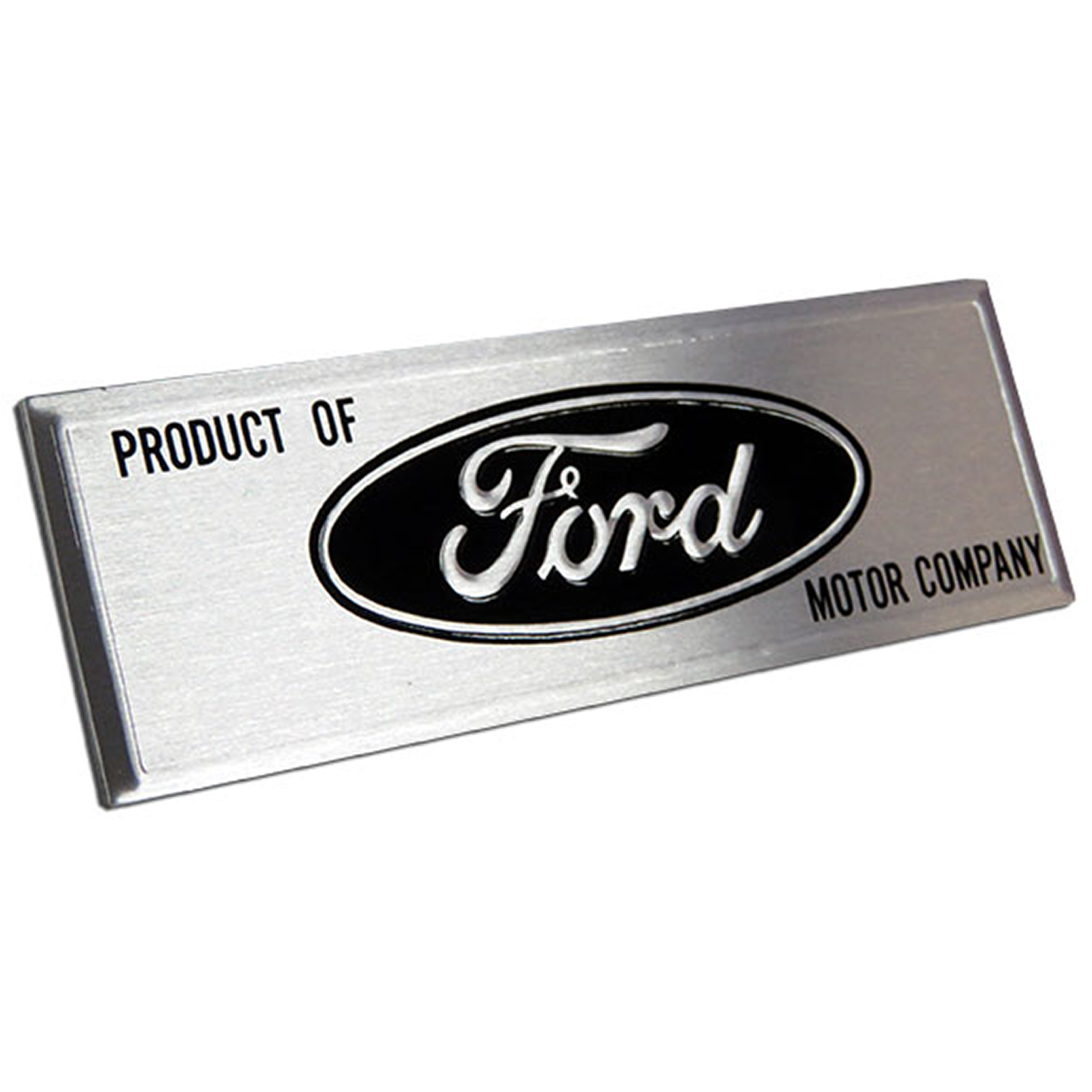 Ford Sticker Emblem with Black Text (for driver inner rocker panel)