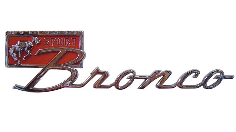 """Chrome """"Bronco Sport"""" Fender Emblem"""