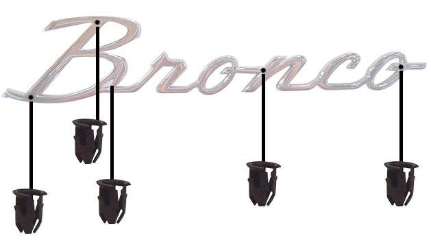 Fender Emblem Hardware Kit for Bronco Script Emblem