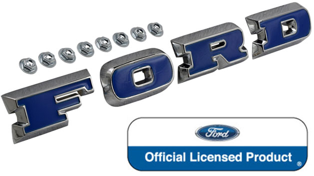 Ford Grill Letters - Blue Plastic Inserts