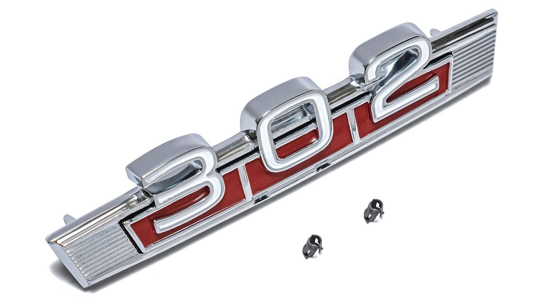 302 Engine Badge Fender Emblem