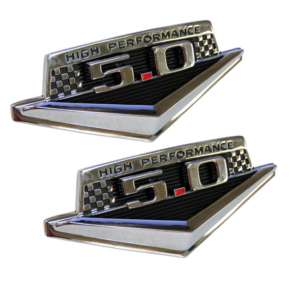 "Fender Emblem Kit - ""High Performance"" w/5.0L, Full Set"