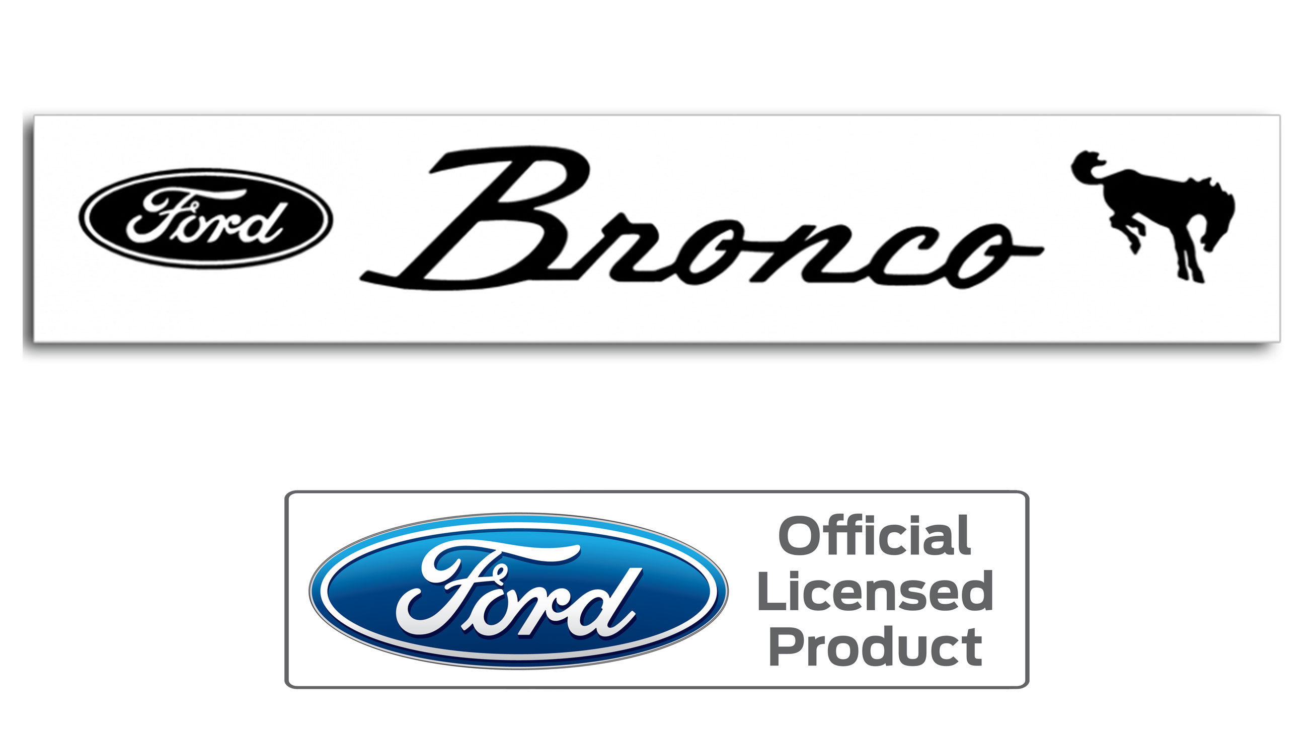 Emblems Stickers Toms Bronco Parts 1966 Ford Wiring Harness Windshield Decal W Oval Script Various Colors