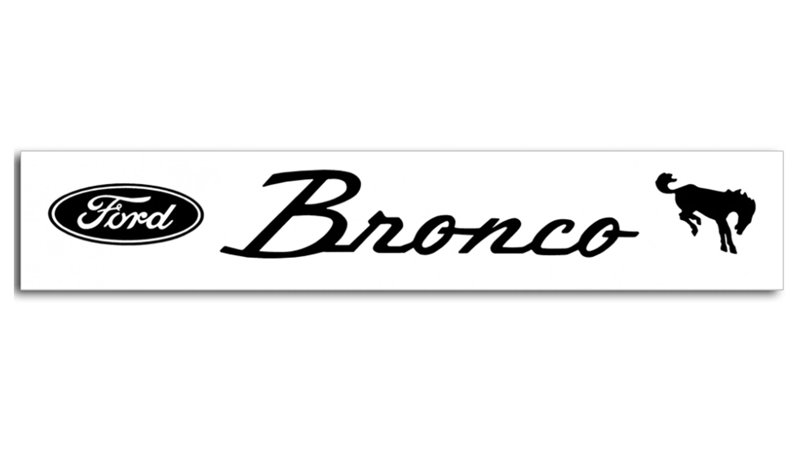 Bronco Windshield Decal w/Ford Oval & Script, Various Colors