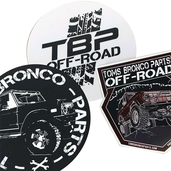 Tom's Bronco Parts Sticker (free w/any purchase)