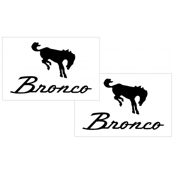 "Bronco Script Decal Set - 4.4"" x 7"", Various Colors"