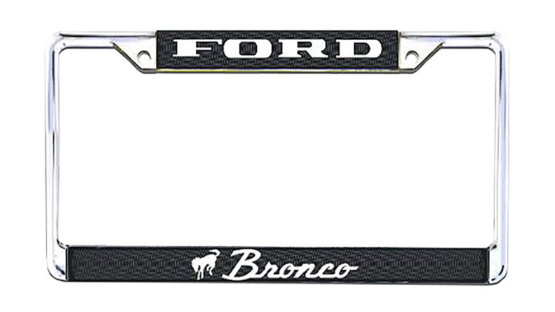 Bronco Script License Plate Frame