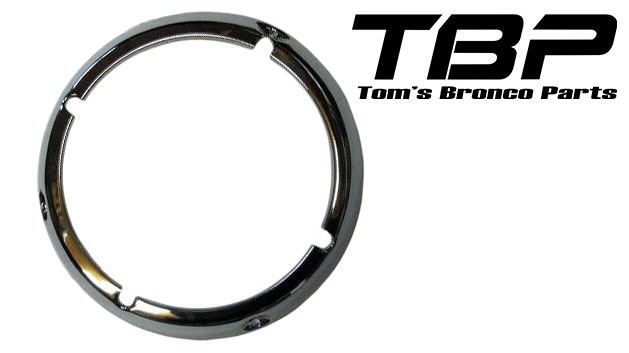 Chrome Headlight Bezel Ring, 71-77 Ford Bronco, each