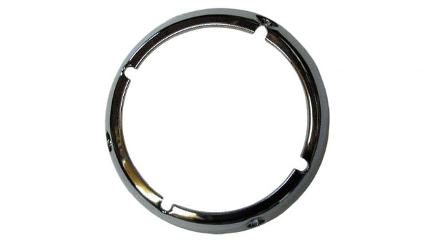 Chrome Headlight Bezel Ring, 71-77 Ford Bronco