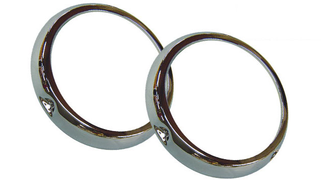 Headlight Ring - Chrome, Bezel, 1966-1970 Ford Bronco, Pair