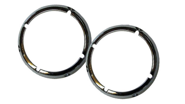 Chrome Headlight Bezel Rings, 71-77 Ford Bronco, pair